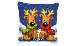 Twin Reindeer Large Holed Tapestry Kit
