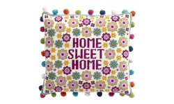 Flower Home Sweet Home Tapestry Cushion Kit