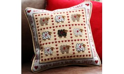 Baa Baa Black Sheep Tapestry Cushion Front Kit